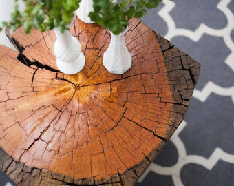 Tree Stump side table by Fixture Studio- shipping not included