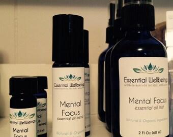 Mental Focus Essential Oil Blends ~ Memory ~ Focus ~ Study Aid ~ Mental Stimulant