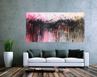 Modern abstract artwork in XXL by Alexander Zerr acrylic on canvas 100x200cm #489