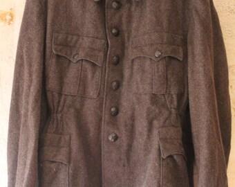 Brown military wool jacket