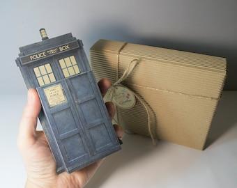 Large Tardis Doctor Who emotibox, funny greeting card, doctor who birthday card, doctor who gift, geek card, tardis gift, geek gift