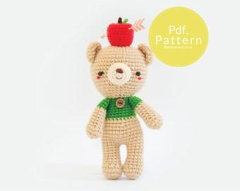 PDF. PATTERN - Little John's ,  Amigurumi pattern, Crochet pattern, Dollhouse pattern.