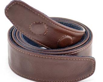 Reversible vegan belt (includes 1 stainless steel circular buckle)