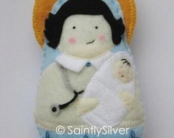 Saint Gianna Beretta Molla Felt  Saint Softie