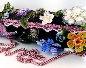 Handbag, bag, evening bag, shoulder bag, clutch, bead embroidery