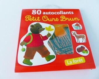 80 stickers hazelnut Brown forest animals bear little DOE mushroom stickers