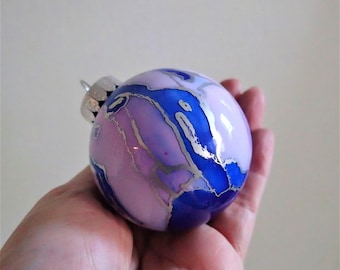 Glass Ornament - Hand Painted Christmas Decoration
