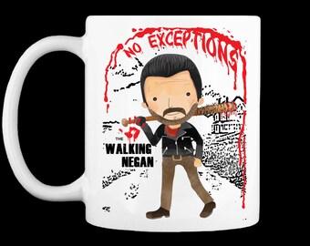 The Walking Negan No Exceptions Mug - The Walking Dead Parody - For the Walking Dead fan loving / Coffee Loving Fan!