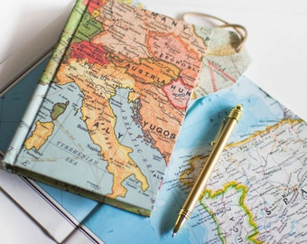 Europe Travel Journal with Pockets