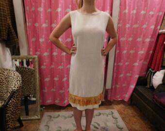 1960's  TumbleWeeds  dress/ Sheath dress/ mod/ retro/ pin-up/ fringe/