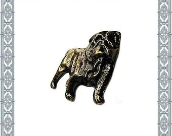 6 Decorative rivets English Bulldog XL Antique Brass Rivet Zierniete English Bulldog dog studded rivets conchy rivet dog Collars Antique Leashes