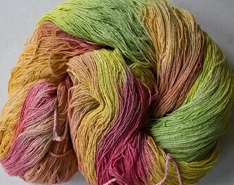 Stella, silk noil yarn, 1350 yds  Citrus.