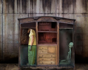 Fine Art Photography, Surreal Photography, Wall Art, Modern Photography, Dreamy Scene, Composite Photography, Trapped in Closet