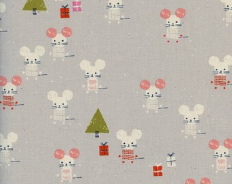 Cotton + Steel Frost - Little Friends Neutral - Quilting Cotton - Fabric by the Yard - Christmas Fabric