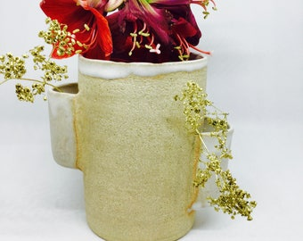 Handthrown stoneware vase thrown stoneware vase