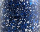 Punt Return - Blue and White Glitter Nail Polish Team Spirit 5 free nail polish vegan cruelty free Colts nail colors Cowboys