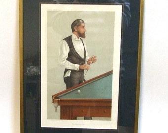 Vanity Fair Spy billiards sport small art print Champion 1885 Sport Worldwide freight