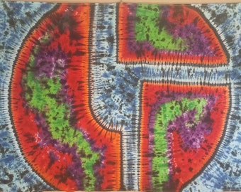 5x7 ft Disco Biscuits Tie Dye Tapestry