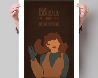 "SQUIRREL GIRL Inspired Minimalist Poster Print - 13""x19"" (33x48 cm)"