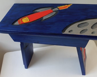 Space rocket stool