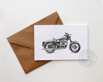 Royal Enfield Cafe Racer Motorcycle Gift Teen Boy Gift Vintage Motorcycle Boyfriend Birthday Motorcycle Print Motorcycle Art