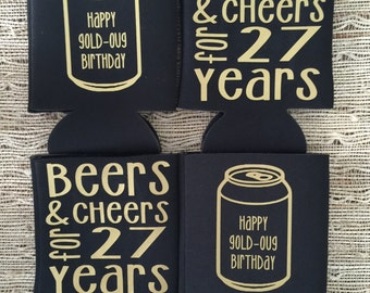 birthday party coolers, cheert to you bday, happy birthday favors, custom bachelorette favors, wedding favors, decoration apparel