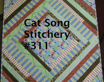 Pieced Cabin Pillow and Quilt, Wallhanging, custom size,  PDF Pattern