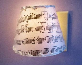 Night Light, Sheet Music Nightlight, Gift For Musician, Personalized Custom Night Light, Children's Room Night Light, Vivaldi Sheet Music