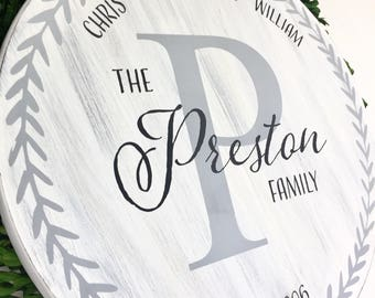 Family Name Sign - Personalized Family Sign - Rustic Family Name Sign - Established  Family Sign - Fixer Upper Decor - Custom Family Sign