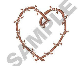 Barbed Wire Heart - Machine Embroidery Design