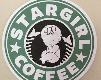 Starbucks Star Girl Baby Shower Cake Topper/ Centerpiece