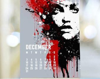 Fashionista 2018 Calendar, 2018 Desk Calendar, Stand Calendar, 2018 Planner, Easel Desk Calendar Cute Desk Calendar, 2018 Retro Calendar