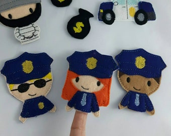 Cops and Robber Finger Puppets