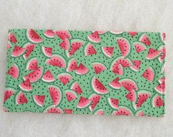 Checkbook Cover - Waterlmelons
