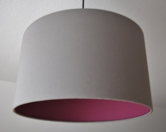"Lampenschirm ""Old pink-stone grey"""