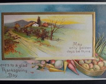 Thanksgiving Postcard, Thanksgiving Clapsaddle, Ellen Clapsaddle Postcard, Antique Postcard, Vintage Postcard