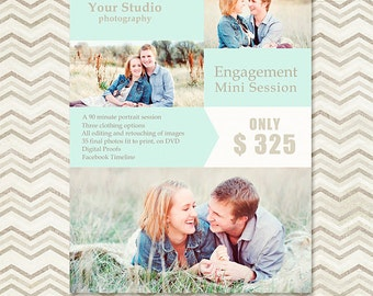 Mini Session - Photography Marketing Template - Engagement Session - Marketing Board 010 - C040, INSTANT DOWNLOAD