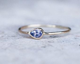 Tanzanite ring, 14k gold ring, December birthstone, Stacking ring, Birthstone ring, Anniversary ring, Tanzanite Engagement ring, Dainty ring