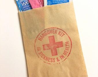 Hangover Kits, Bachelorette Party Favor, Wedding Favor Bags, Bachelorette Bags, Recovery Kit Bag, Party Favor Bag, Survival Kit Bags