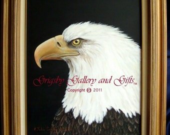 "Eagle Portrait- ""NOBLE WARRIOR"" Original Acrylic 16 X 20 Framed, RedRobinArt, Grigsby Gallery and Gifts"