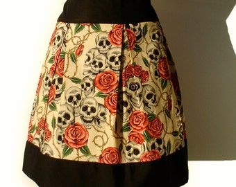 Day Of the Dead  Skulls and Roses Tattoo Skirt ON Sale