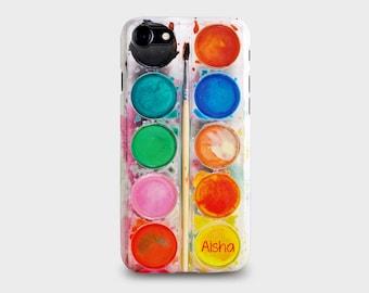 Personalised Paint Set iPhone Case for iPhone 7, 7PLUS, 6/6S, 6/6S Plus, 5/5S, Se, 5C