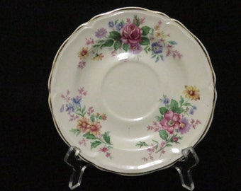 Edwin Knowles Semi Vitreous Floral Saucer