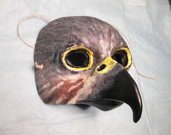Sparrow Hawk, Falcon mask, Peregrine falcon, masquerade mask, gyrfalcon, costume mask, Horus, spirit bird, Halloween, masked ball