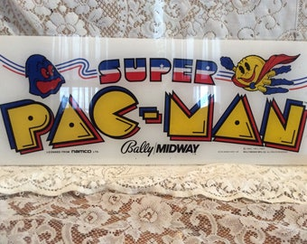 Vintage Original Plexiglass Arcade Game Marquee Sign / Rescued from an Amusement Auction