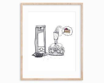 Marie Antoinette Funny Art Print: History Humor