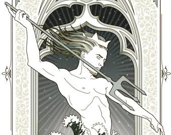 Neptune Mythological gicleé print