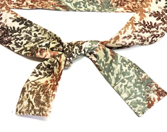 Cooling Neck Wrap, Tan Camouflage Leaves Stay Cool Tie Bandana Scarf, Gel Neck Cooler, Body Head Heat Relief Headband iycbrand