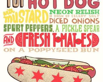 Genuine Chicago Hot Dog