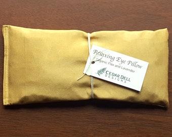 Silk Eye Mask Yoga Pillow Savasana Organic Lavender Aromatherapy Eye Pillow Natural Dye Mushroom Dye Silk